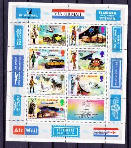 Barbuda  148-155 MNH 1974 UPU  with Sheet CV $19.85