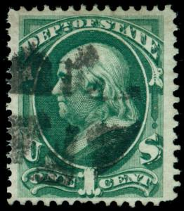 MOMEN: US STAMPS #O57 USED OFFICIAL