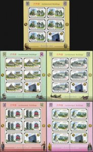 Korea 2012. Buildings in Moscow and Pyongyang (MNH OG) set of 5 M/S