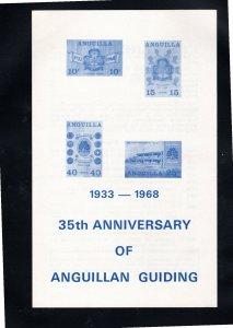 Anguilla 1968 Sc 40-3 MNH Commemorative Perforate Announcement Folder
