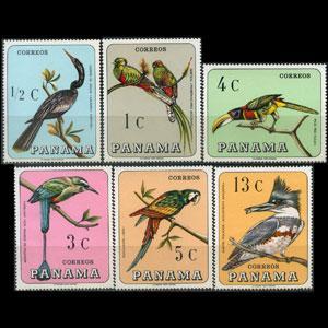 PANAMA 1967 - Scott# 478-E Birds Set of 6 NH