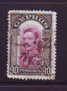 Cyprus Sc 154 1938 90 pi G VI stamp used