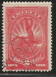 URUGUAY  182  USED,  CENTAUR