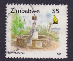 Zimbabwe - 1995 Culture Toposcope-Harare - $5 used