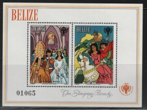 BELIZE  521, SOUVENIR SHEET, MNH,1980 The sleeping beauty