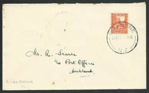 NEW ZEALAND 1939 first flight cover Gisborne to Auckland c100 carried......56771