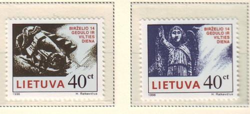 Lithuania Sc 547-8 1996 Day of Hope & Mourning stamp set ...