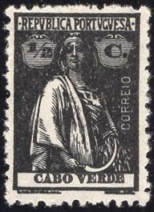 Cape Verde 174 - Unused-NG - 1/2c Ceres (Perf 12x11.5) (1920)
