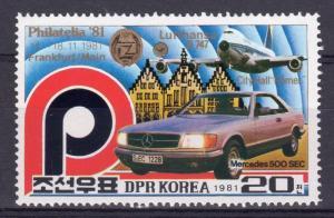 Korea 1981 Sc#2131 Mercedes Benz 500 SEC (1) MNH
