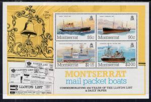 Montserrat 542a Ships Souvenir Sheet MNH VF