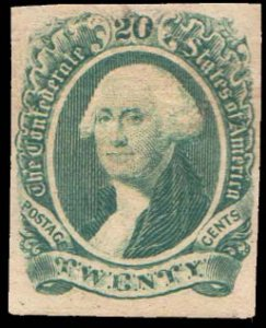 Confederate States Scott 13 Unused with hinge remnant.
