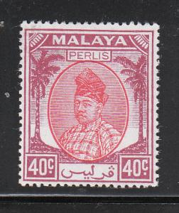 Malaya Perlis 1951 Sc 17 40c MLH