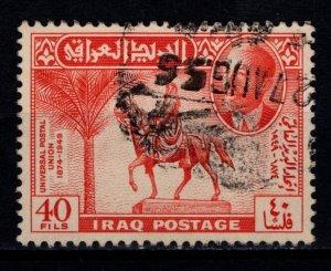 Iraq 1949 75th Anniversary of UPU, 40f [Used]