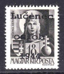 HUNGARY 610 1944 LUCENEC OSLOB OVERPRINT OG NH U/M VF WITH BEAUTIFUL GUM