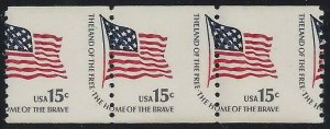 1618C Misperf Error / EFO Strip of 3 Flag Mint NH