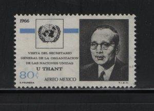 MEXICO, C316 MNH, 1966 Visit of U Thant, Secretary General of the UN