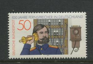Germany -Scott 1261- General Issue-1977 - MNH - Single 50pf Stamp