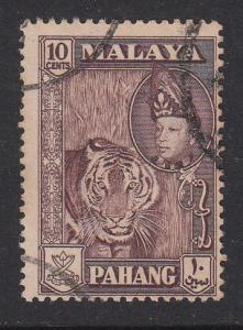 Malaya Pahang 1957 Sc 77a 10c maroon Used