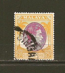 Singapore 14a King George VI Used