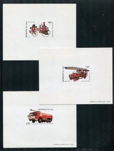 Mali C455-7 perforated & imperforate + deluxe sheets MNH Fire Trucks 1982 x29971