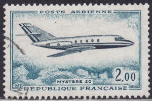 France C41 USED 1965 Jet Plane, Mystere