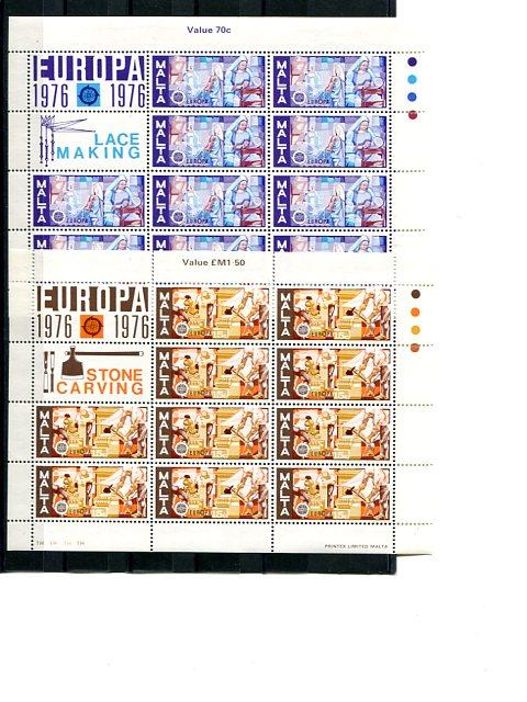 Malta 1976 Europa mini sheets   Mint VF NH