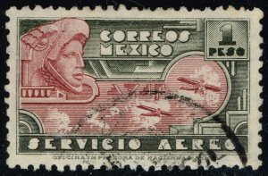 Mexico #C72 Eagle Man and Airplanes; Used (3Stars)