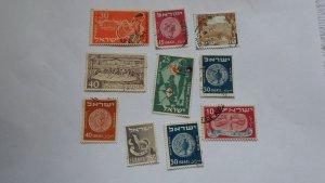 ISRAEL STAMPS MIXED CONDITION. LOT OF 10 STAMPS ( 11