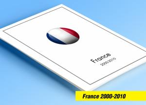 COLOR PRINTED FRANCE 2000-2010 STAMP ALBUM PAGES (265 illustrated pages)
