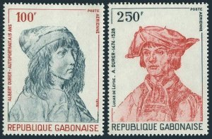 Gabon C213-C214,MNH.Michel 679-680. Albrecht Durer,1978.Portraits.