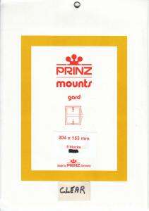 PRINZ CLEAR MOUNTS 204X153 (5) RETAIL PRICE $9.50