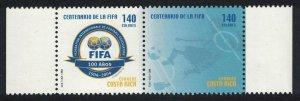 Costa Rica Centenary of FIFA Football Association pair SG#1772-1773