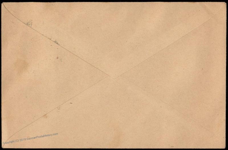Danzig 1920 GROSS-PLEHNDORF Germany Cover Germania Overprint 83666