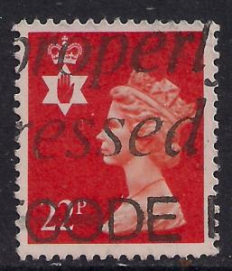 Northern Ireland GB 1990 QE2 22p Bright Orange Red SG NI 55 ( D396 )