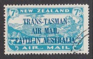 NEW ZEALAND 1934 Trans Tasman 7d fine used - ACS cat NZ$75.................M432