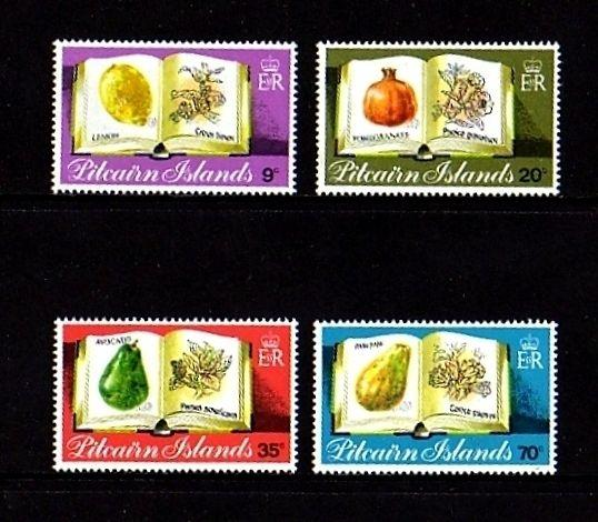 PITCAIRN IS - 1982 - FRUIT - PLANTS - FLOWERS - LEMON ++ - MINT - MNH SET!
