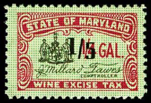 U.S. MARYLAND ST. REVS W27a  Mint (ID # 17436)