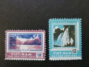 Vietnam 1962 MNH Stamps Scott 218-219 Ba Be Lake Ban Gioc Waterfalls