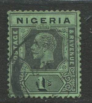 Nigeria -Scott 8 - KGV Definitive -1914 - Used - Single 1/- Stamp