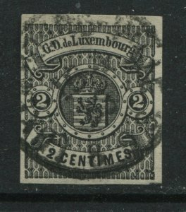 Luxembourg 1860 2 centimes CDS used