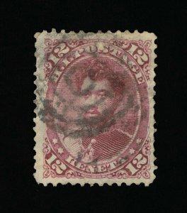 GENUINE HAWAII SCOTT #46 F-VF USED 1883-84 RED LILAC PRINCE LELEIOHOKU  #15829