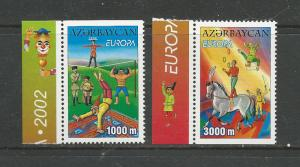 Azerbaijan Scott catalogue # 728-729 Mint NH