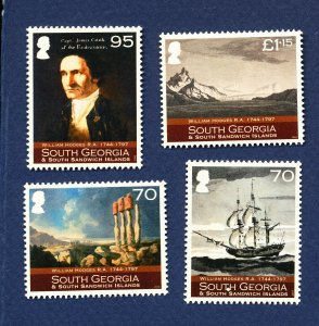 SOUTH GEORGIA - # 408-411  - MNH - William Hodges Art - 2010