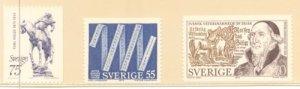 Sweden Sc 1121-23 1975 various Anniversaries stamp set mint NH