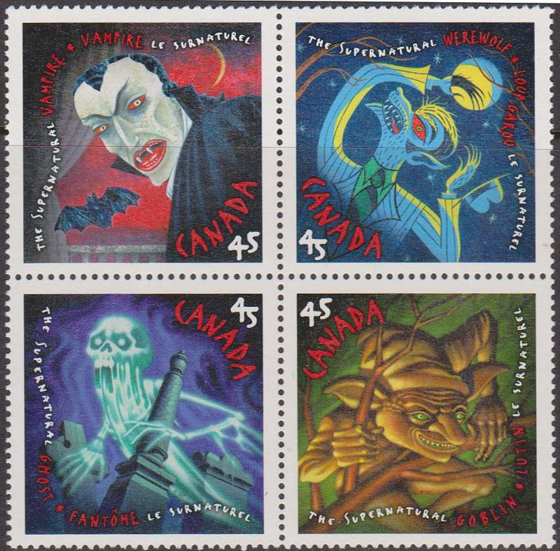 Canada -  1997 The Supernaturals Block of 4 VF-NH #1668a