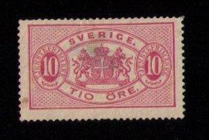 MLH Sweden Scott # O17 - 1885 - ' Coat of Arms F-VF