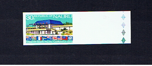 NAURU 1975  CONFERENCE 30c IMPERFORATE SINGLE