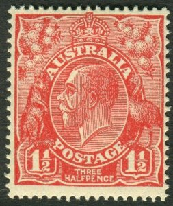 AUSTRALIA-1926 1½d Scarlet Sg 87 UNMOUNTED MINT V50689