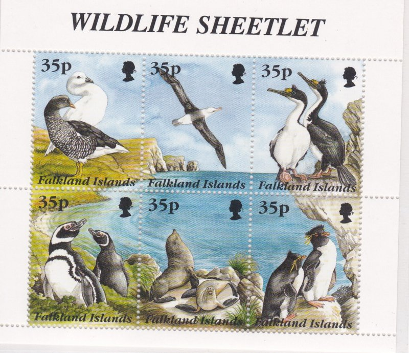 Falkland Islands # 643, Wildlife Sheetlet, NH, 1/2 Cat.