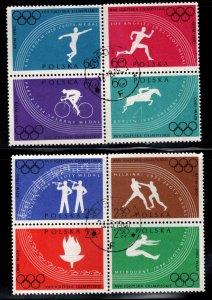 Poland Scott 914-921a Used 1960 Olympic set